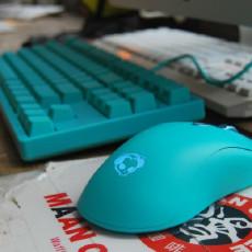 薄荷绿(Tiffany蓝)配色套装——3087机械键盘+AG325薄荷绿鼠标