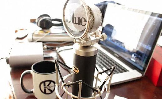 Blue Baby Bottle麦克风:心形指向录制,声音饱满噪音低