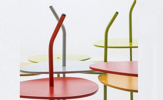 Grado睡莲边桌:防划台面经久耐用,别致造型就是好看