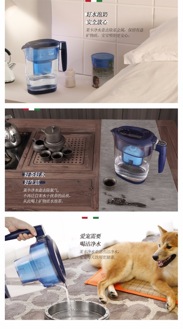 莱卡(Laica)米兰系列净水壶