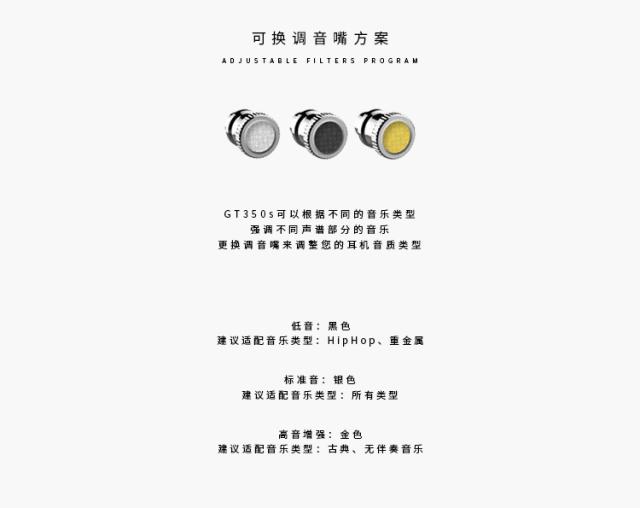 Macaw脉歌GT350s双动圈HiFi入耳式线控耳机