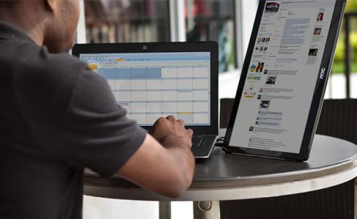 一根线就能搞定的便携屏幕,笔记本一秒变双屏