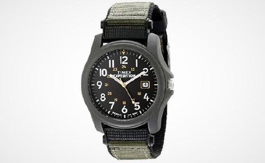 天美时T42571石英手表:夜光表盘看时方便,尼龙表带佩戴舒适
