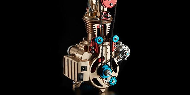 炫酷单缸发动机组装模型,手脑并用机械迷超爱 | 视频