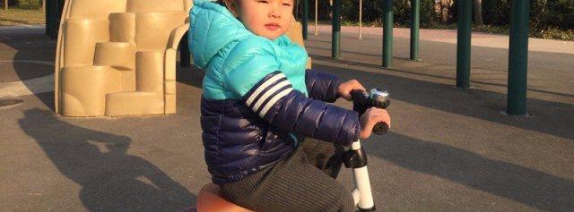 一步快速折叠,锻炼宝宝平衡能力的如宝儿童学步三轮车