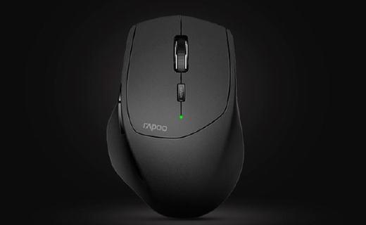 雷柏蓝牙鼠标:多种智能连接方式配备,光学引擎耐用省电