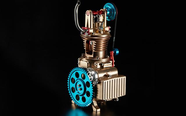 土星文化 单缸发动机组装模型