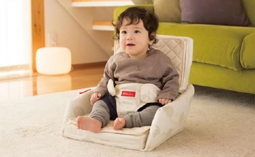 Farska可折叠坐垫床:安全带设计可与任意椅子结合,双层纯棉更舒适