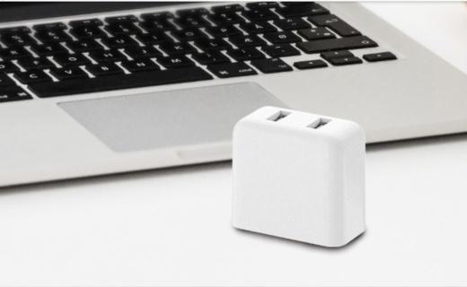 紫米QC3.0双USB充电器:矩形设计圆润美观,智能输出省时省心