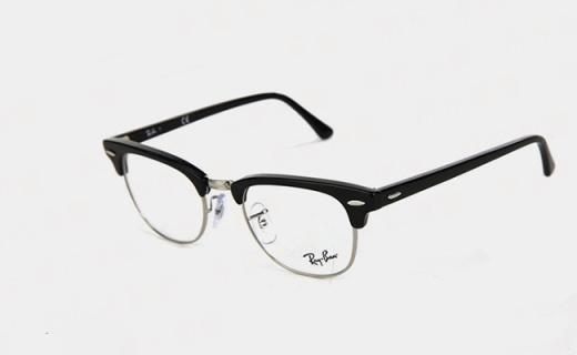 雷朋黑色半框眼镜架:中性风格男女皆宜,打造时尚潮流范儿