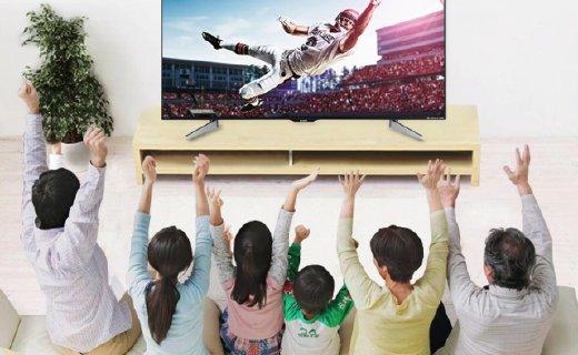 夏普60英寸智能电视:4K分辨率色彩明亮清晰,10核处理器上网流畅