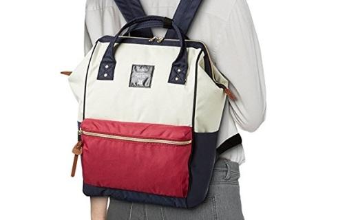 anello双肩背包:帆布面料结实耐磨,经典配色时尚百搭