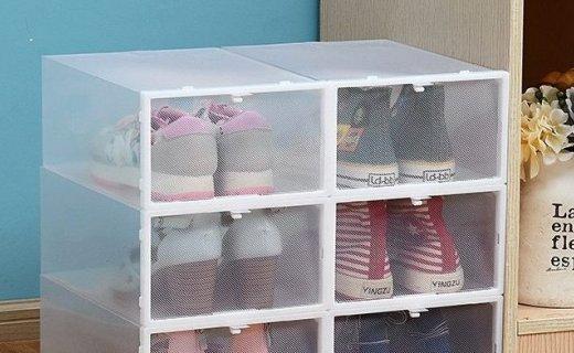 Doruik抽屜式可視塑料鞋盒:PP材質健康安全,可拼接設計
