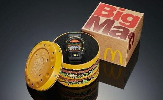 麦当劳×G-SHOCK联名手表,情怀满分