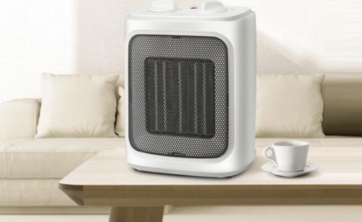 美的NTY20-16AW暖风机:陶瓷发热高效无火,温度调节冷暖两用