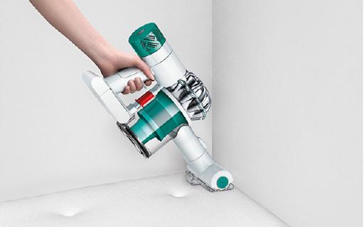 戴森手持吸尘器:20分钟长效清洁,11万转马达强力吸除过敏原