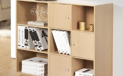好事达书柜:机械封边工艺结实耐用,分类整理轻松收纳