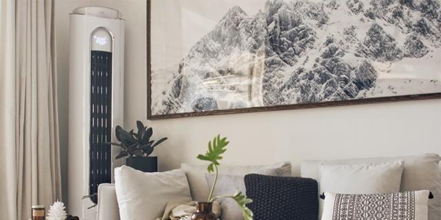 空调也能成为客厅艺术品,快速制冷让你整个酷暑就像度假