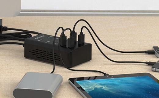 奥睿科10口USB充电器:充电快又安全,可同时充10台pad