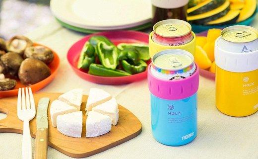 膳魔师易拉罐保冷杯:真空隔热长效保温保冷,创意易拉罐造型