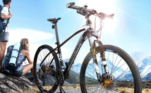 永久27.5寸山地车:轻巧车身骑行方便,减震抓地不费力