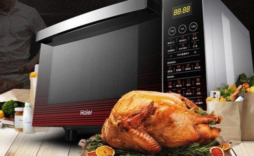 海尔MZW-2380EGCZ微波炉:30秒一键速热,内置温度感应有效保留食物营养