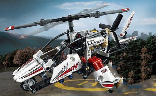 乐高直升机玩具:精致部件炫酷外观,仿真模型满足童趣