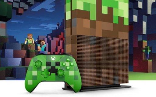 微软Xbox One S 1TB限量版主机:像素块配色上新,全球限量主机