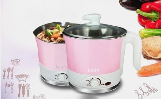 歌林KFP0001电煮锅:蒸煮二合一,旋转温控使用简单方便