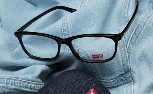 Levi's近视眼镜架:复古文艺风,另送非球面镜片
