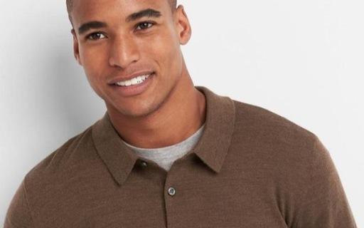 Gap男士羊毛POLO衫:100%美利奴羊毛,休闲百搭