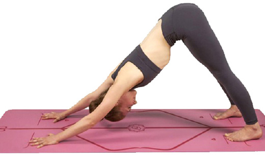 这款带定位图的瑜伽垫,据说防滑性NO.1