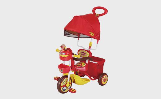 面包超人化身儿童脚踏车,超萌外形带音乐宝宝争着要去玩