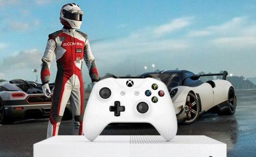 Xbox One S 1TB游戏主机:4K原生分辨率,纤毫毕现劲畅游戏