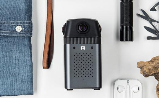 得图F4全景相机:四镜头6K超清全景拍摄,机身仅670g方便携带