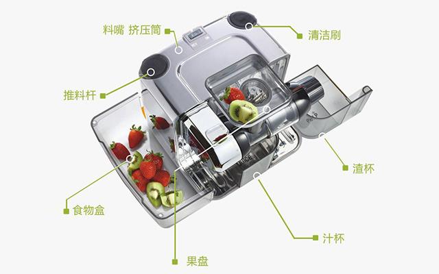 OmegaJuicersCUBE302S-C方形多功能原汁机