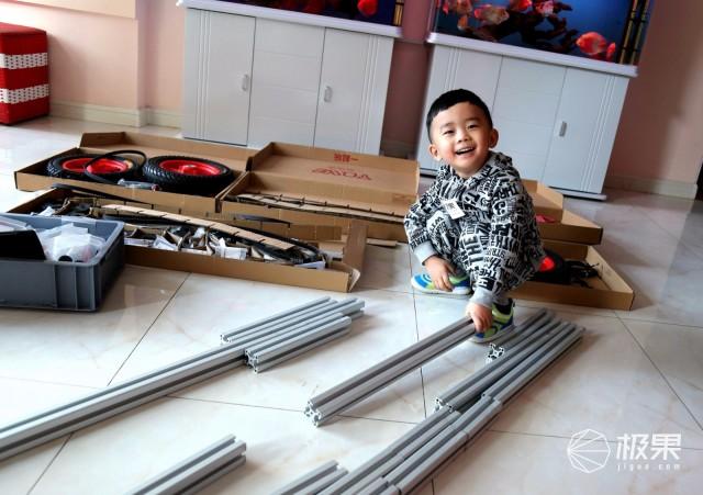 一起玩中级套装变形积木童车