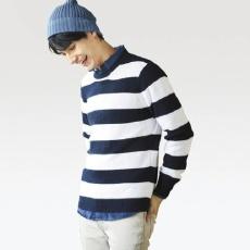 优衣库(UNIQLO) 407709 条纹圆领针织衫
