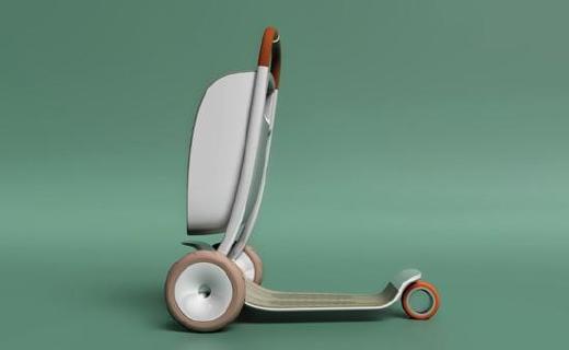 專為老年人設計的滑板車,外觀時尚使用安全