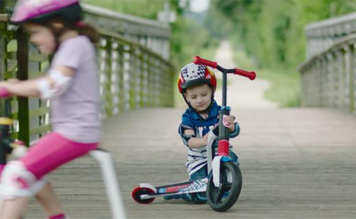 滑板车中的变形金刚,一键切换为骑行车