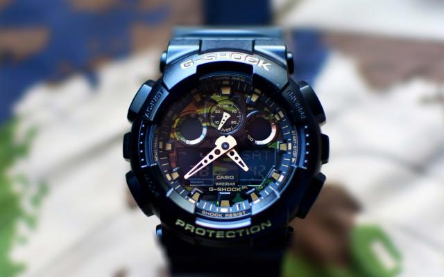 卡西歐G-SHOCK運動雙顯腕表,迷彩風格,獨具魅力