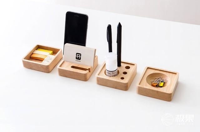开物(KAWOO)木制桌面收纳
