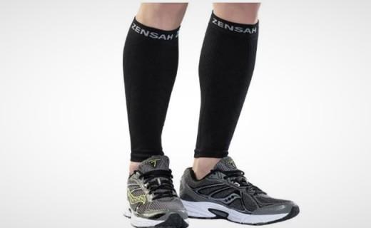 Zensah压缩小腿套:超细纤维压缩双腿,瞬间吸汗干爽透气