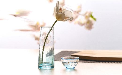 石塚硝子花瓶:离子强化玻璃制作,抗磕耐磨晶莹剔透