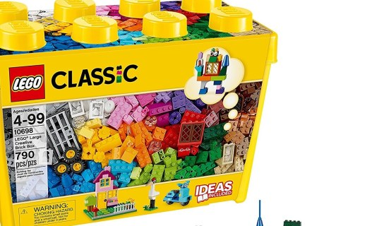 乐高10698创意大号积木盒:经典创意多重玩法,自由拼搭启蒙创意