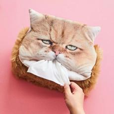 Polar Bear  猫部垂头丧气扁脸猫吃纸纸巾盒套