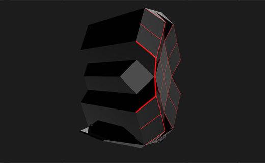 钛度黑晶极客版台式主机:炫酷几何设计,电竞配置畅玩大作