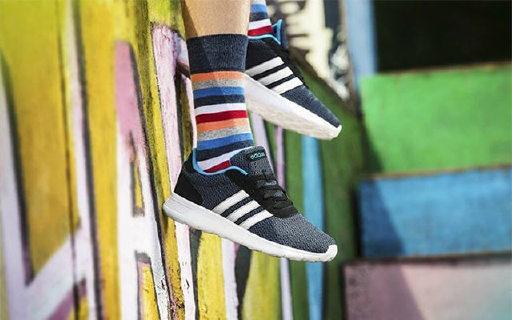 adidas NEO休闲鞋:简单配色美观时尚,PHO鞋底轻便透气