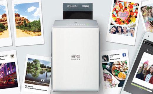 富士SP-2便携照片打印机:10秒每张快速打印,可添加多种滤镜