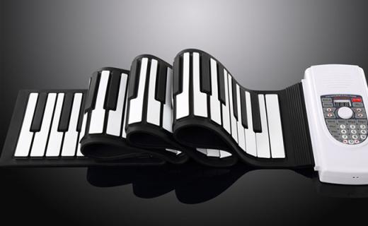 Iword S2090-88手卷钢琴:88键全尺寸设计,可移动电源供电